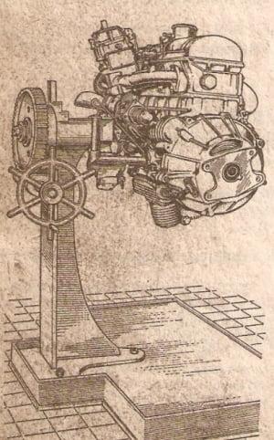 установка мотора на монтажный стенд