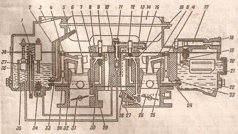 Схема 50 карбюраторов К-126П и