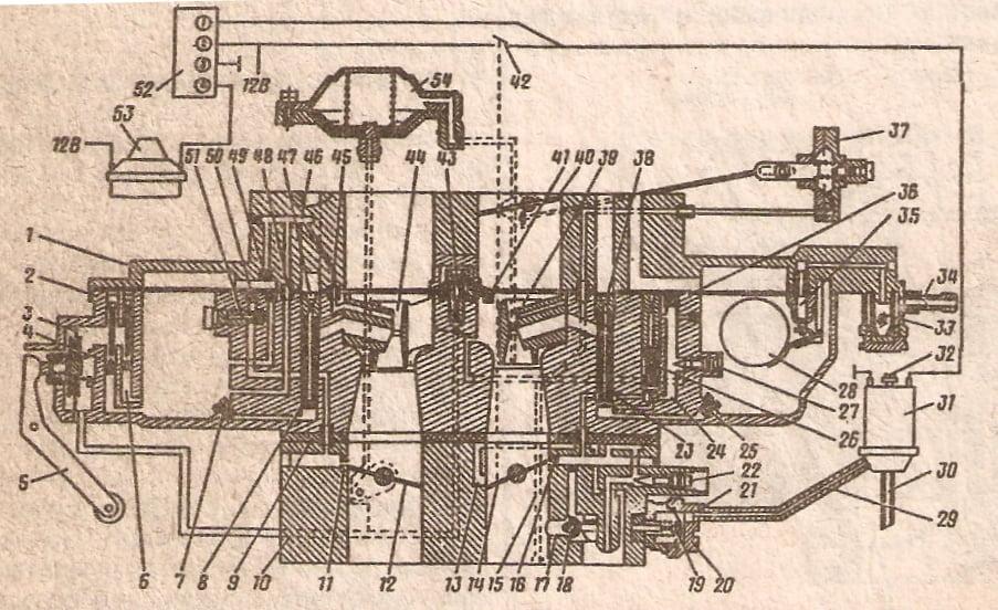 Схема 50а карбюратора