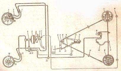 электросхема газ 3307