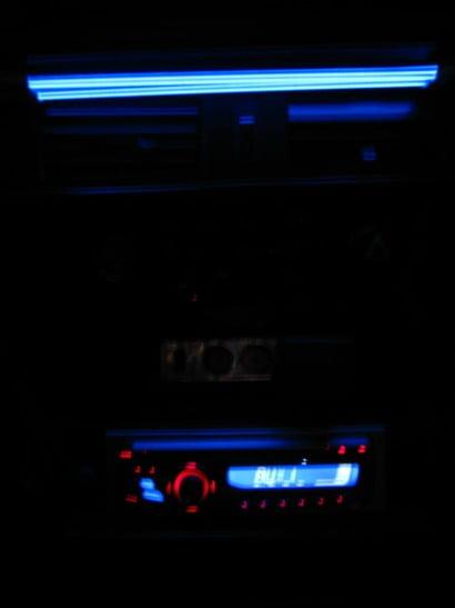 подсветка магнитолы в темноте
