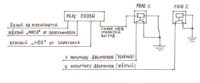 Схема подключения дворников на 2140