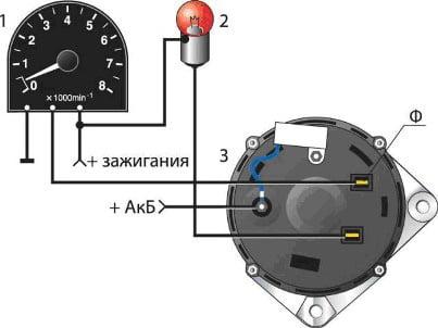 Схема включения тахометра на